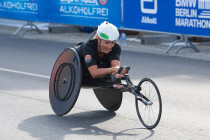 Manuela Schar, the most successful female Swiss wheelchair athlete crossed the finish line in Berlin last year in a world record time.